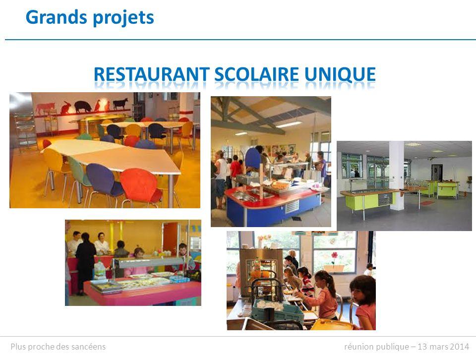 Grands projets réunion publique – 13 mars 2014Plus proche des sancéens