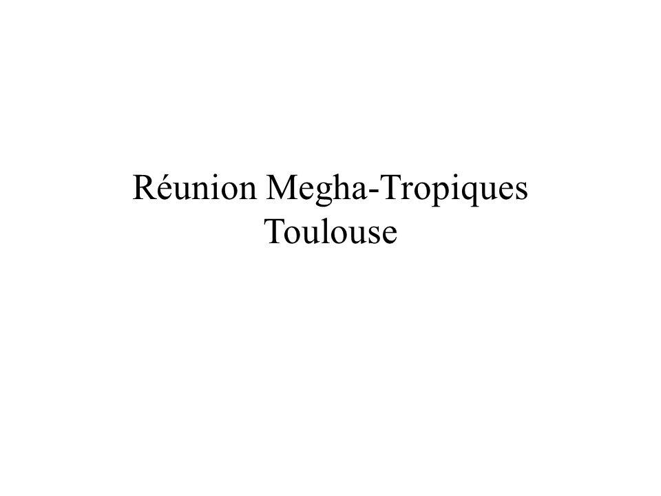 Réunion Megha-Tropiques Toulouse