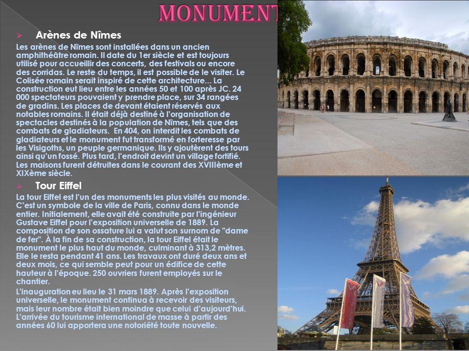 LA TOUR EIFFEL - un monument connu dans le monde entier, le symbole de Paris a été construite daprès le projet de lingénieur français Gustave Eiffel.
