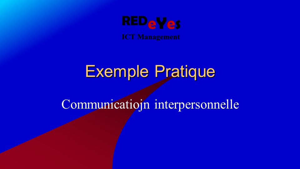Exemple Pratique Communicatiojn interpersonnelle