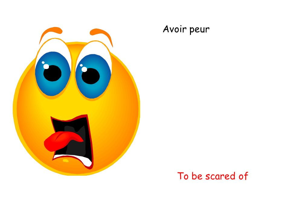 Avoir peur To be scared of