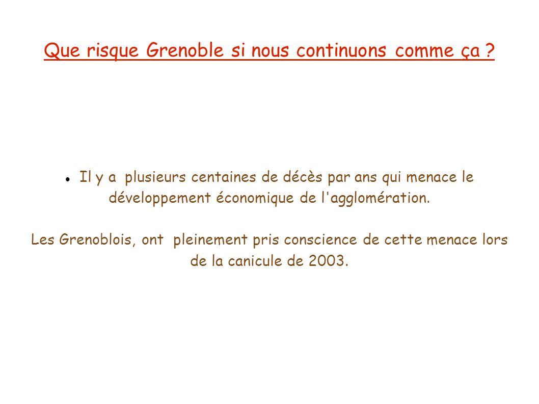 Que risque Grenoble si nous continuons comme ça ? Il y a plusieurs centaines de décès par ans qui menace le développement économique de l'agglomératio