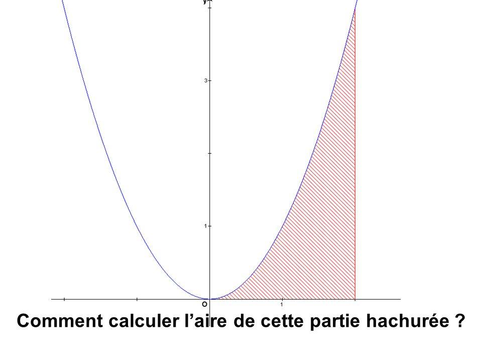Comment calculer laire de cette partie hachurée
