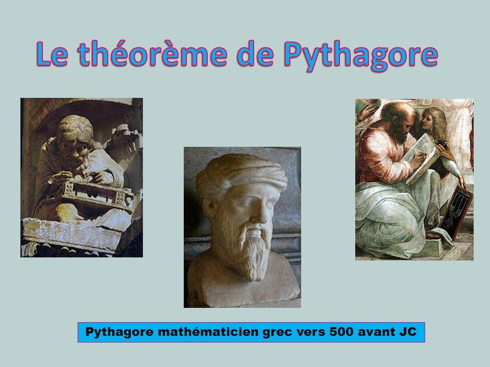 Pythagore mathématicien grec vers 500 avant JC