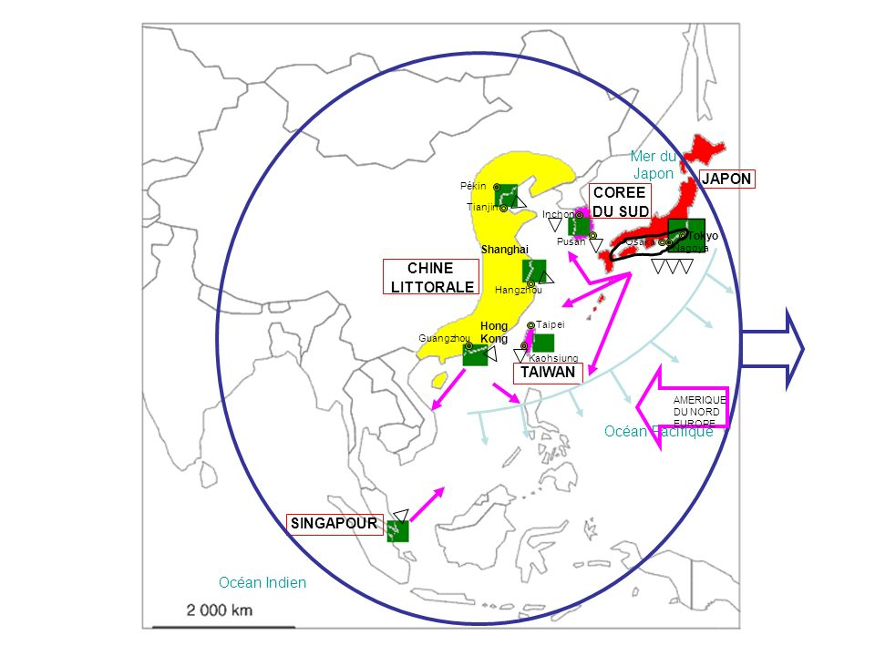THAILANDE LAOS CAMBODGE VIETNAM MALAISIE INDONESIE PHILIPPINES BRUNE BRUNEI COREE DU NORD Hanoi Ho Chi Minh-ville Jakarta ManilleBangkok Shenyang Wuhan
