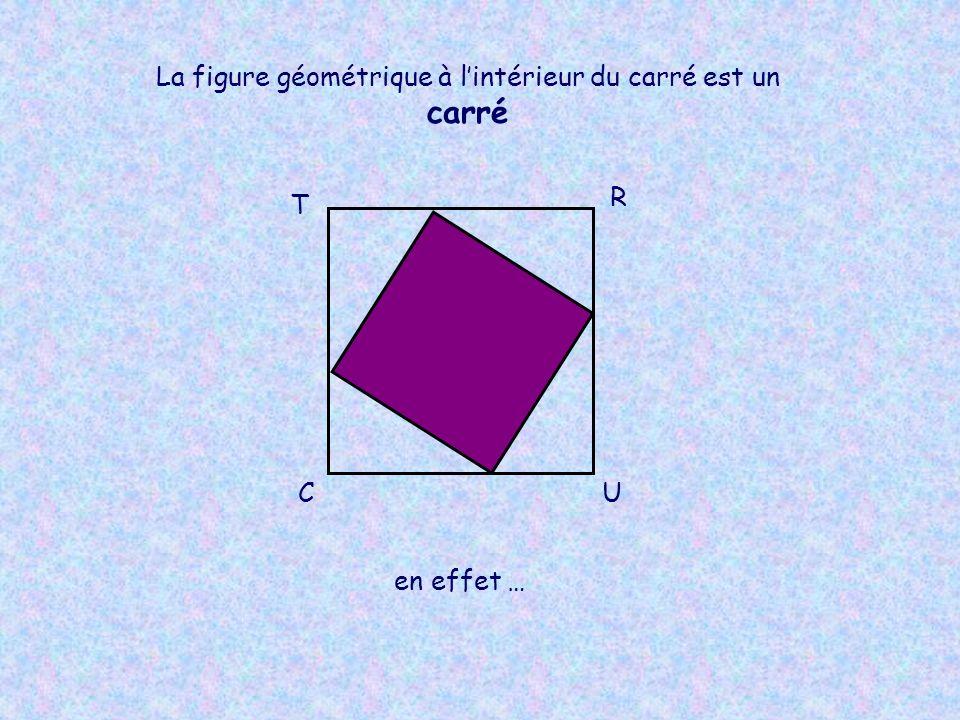T R UC La figure géométrique à lintérieur du carré est un carré en effet …