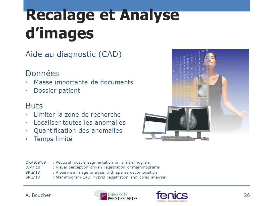 Recalage et Analyse dimages A.