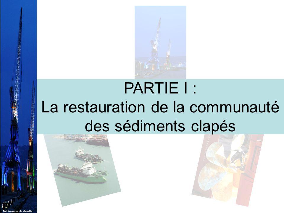 Port Autonome de Marseille PARTIE I : La restauration de la communauté des sédiments clapés