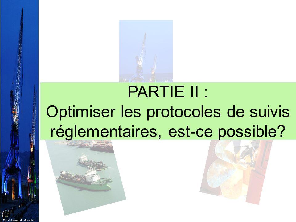 Port Autonome de Marseille PARTIE II : Optimiser les protocoles de suivis réglementaires, est-ce possible?