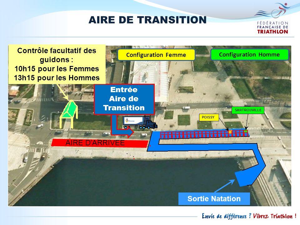 AIRE DE TRANSITION SARTROUVILLE POISSY Configuration Homme Configuration Femme Entrée Aire de Transition Contrôle facultatif des guidons : 10h15 pour