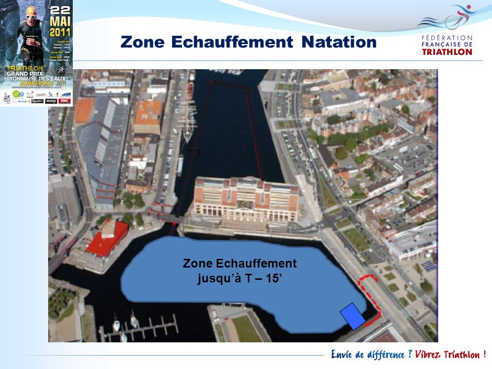 Zone Echauffement Natation ?? Zone Echauffement jusquà T – 15