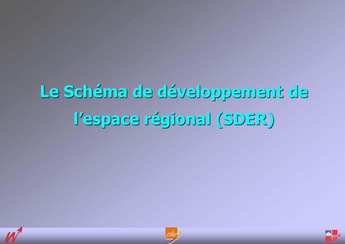 Le Schéma de développement de lespace régional (SDER)