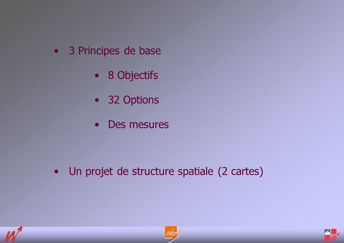 3 Principes de base 8 Objectifs 32 Options Des mesures Un projet de structure spatiale (2 cartes)