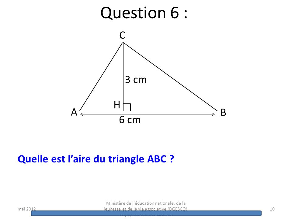 mai 2012 Ministère de l'éducation nationale, de la jeunesse et de la vie associative (DGESCO). http://eduscol.education.fr 9 Question 5 : Voici les ét