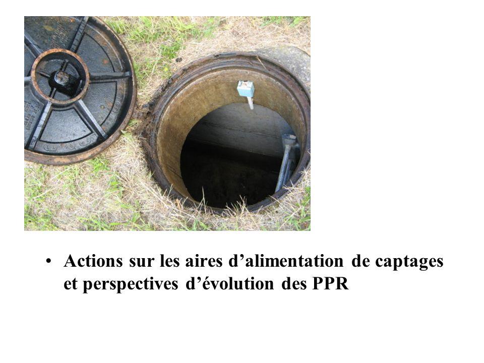 Actions sur les aires dalimentation de captages et perspectives dévolution des PPR