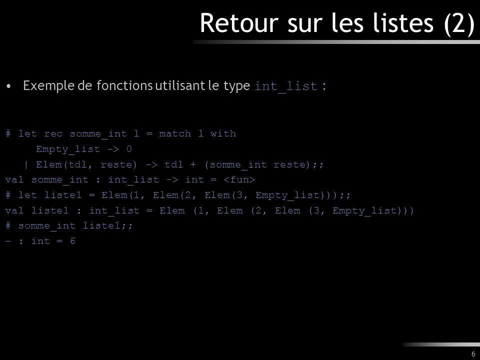 17 [TD] La fonctionnelle map Comme pour les listes, il est utile de définir des fonctionnelles génériques opérant sur les arbres binaires.