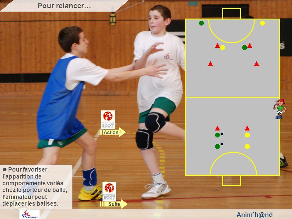 Animh@nd Pour favoriser lapparition de comportements variés chez le porteur de balle, lanimateur peut déplacer les balises.