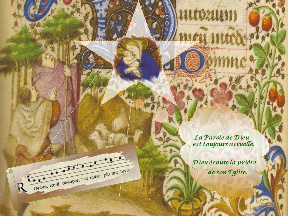 Au XIXe siècle, Dom Prosper Guéranger, jeune prêtre, allait chanter le RORATE CAELI dans léglise de Saint-Pierre de Solesmes, abandonnée depuis la Rév