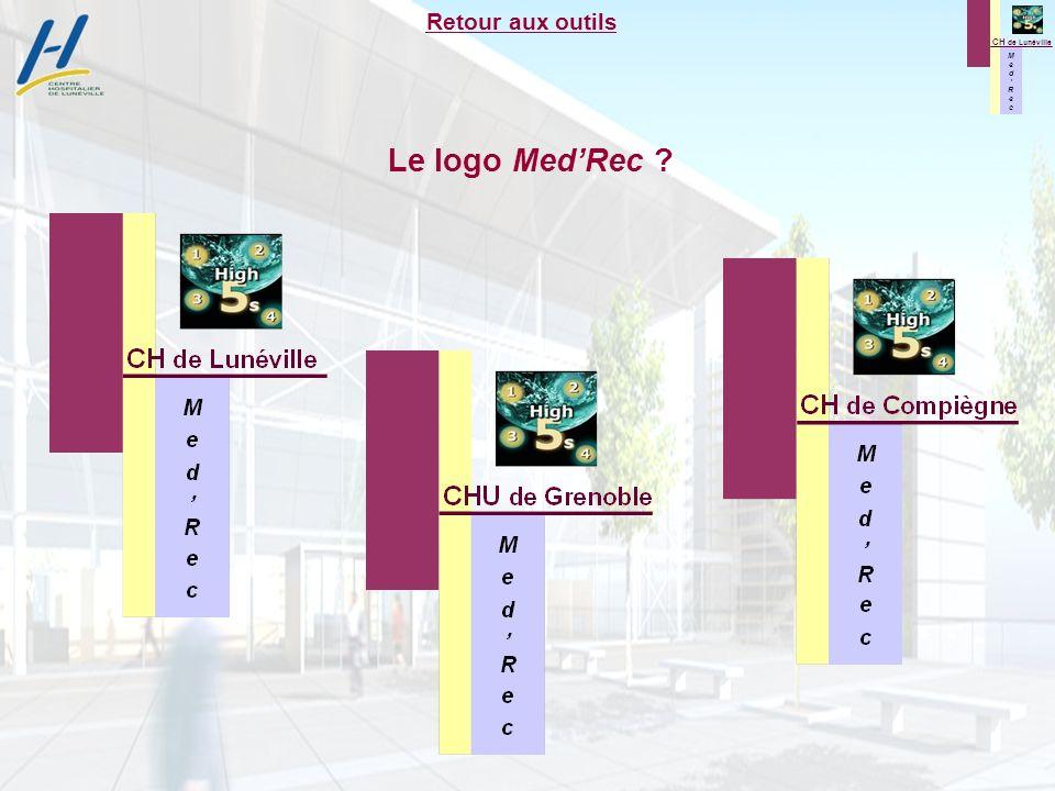 M e d R e c M e d R e c CH de Lunéville Le logo MedRec ? Retour aux outils