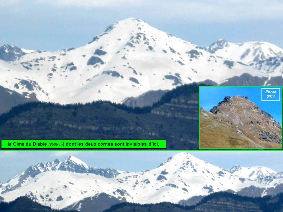 la Cime du Diable (2685 m ) dont les deux cornes sont invisibles dici, Photo 2011