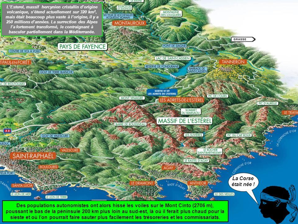 Le retour se fait au milieu des rochers rouges qui font la célébrité de lEsterel, et celle de la Corse.