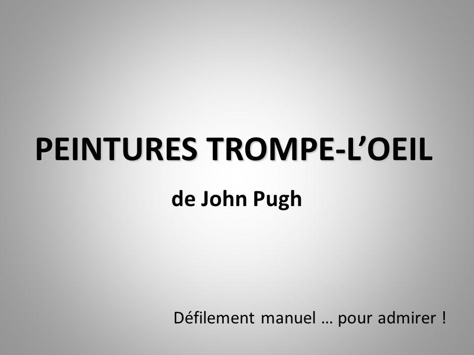 PEINTURES TROMPE-LOEIL de John Pugh Défilement manuel … pour admirer !
