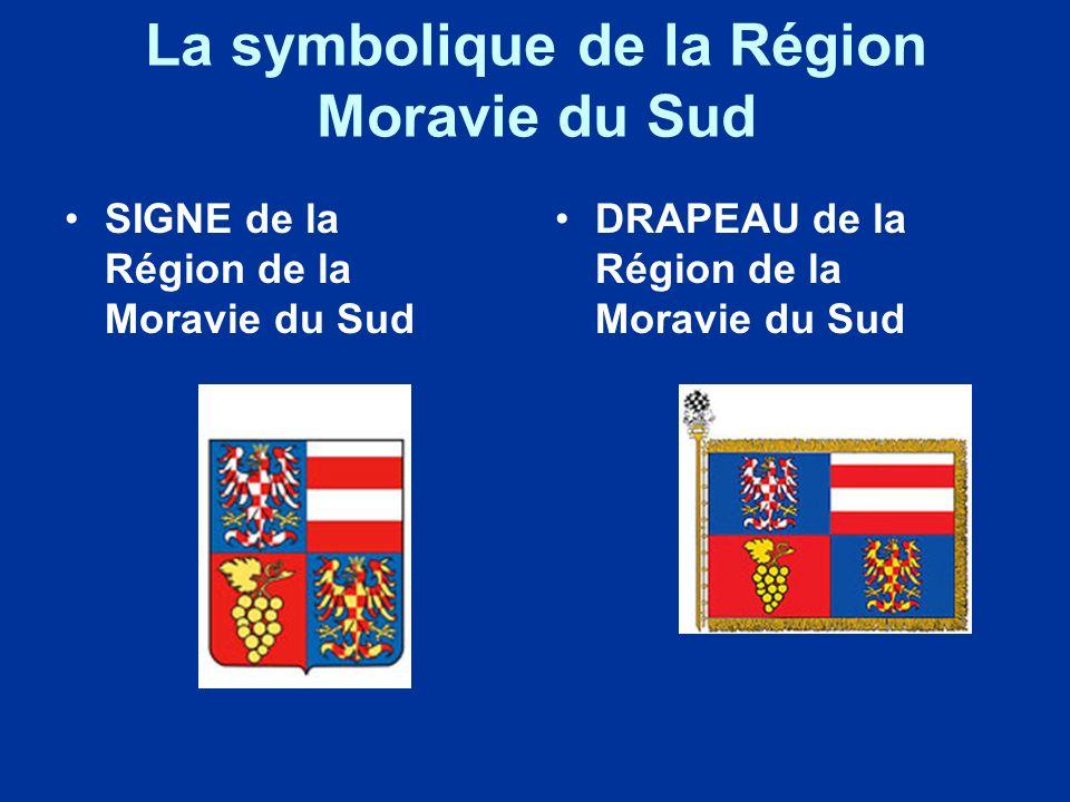 La symbolique de la Région Moravie du Sud SIGNE de la Région de la Moravie du Sud DRAPEAU de la Région de la Moravie du Sud