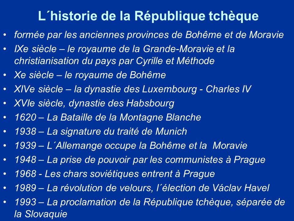 L´historie de la République tchèque formée par les anciennes provinces de Bohême et de Moravie IXe siècle – le royaume de la Grande-Moravie et la chri
