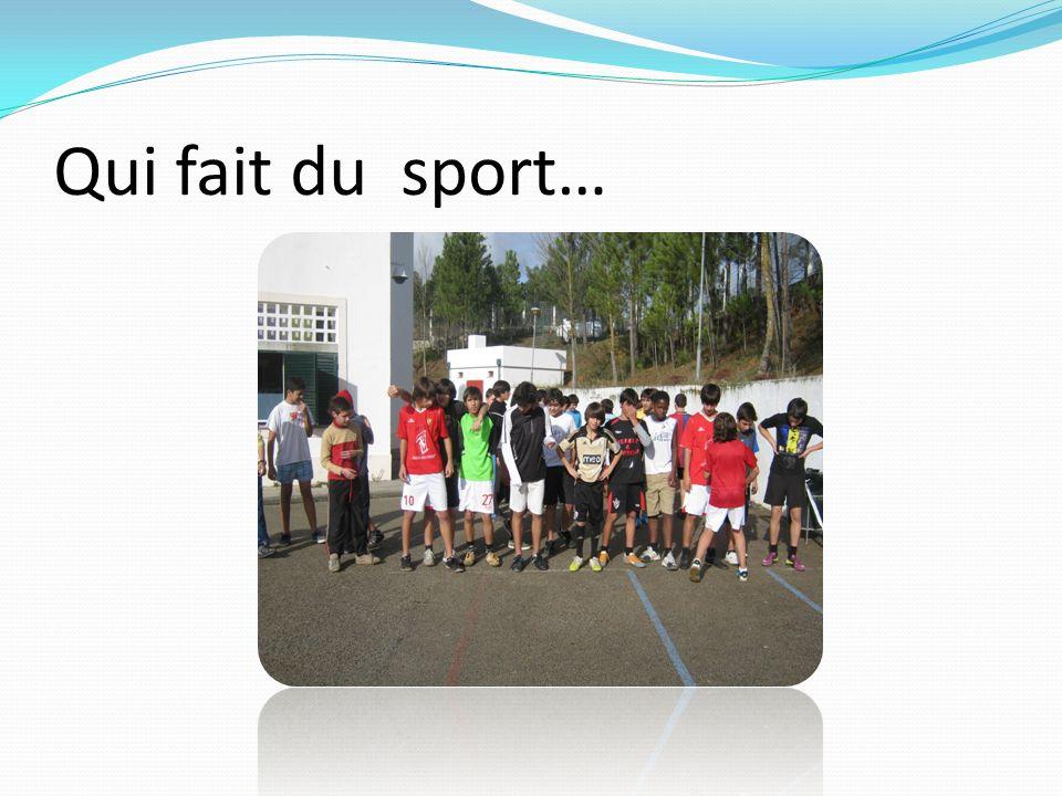 Qui fait du sport…