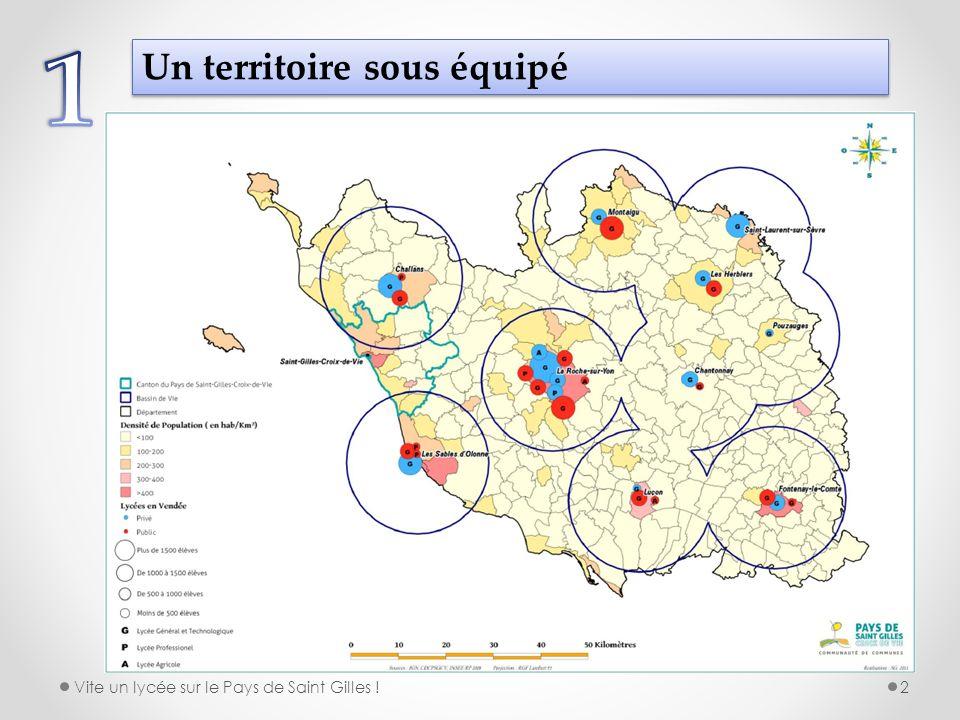 Une situation très pénalisante pour les enfants du Pays de Saint Gilles En Pays de la Loire, 99 % des lycéens résident à moins de 30 minutes de leur lycée.