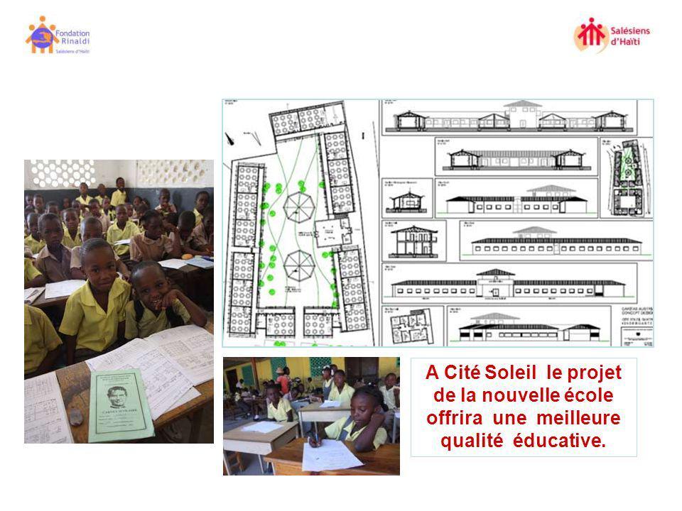 A Cité Soleil le projet de la nouvelle école offrira une meilleure qualité éducative.