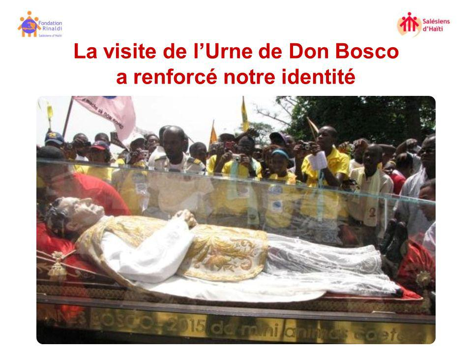 La visite de lUrne de Don Bosco a renforcé notre identité