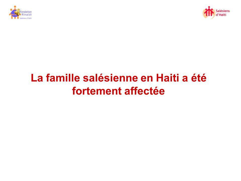 La famille salésienne en Haiti a été fortement affectée