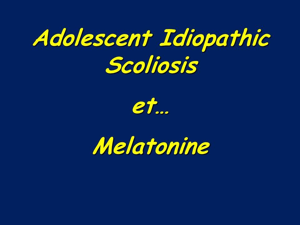Adolescent Idiopathic Scoliosis et…Melatonine