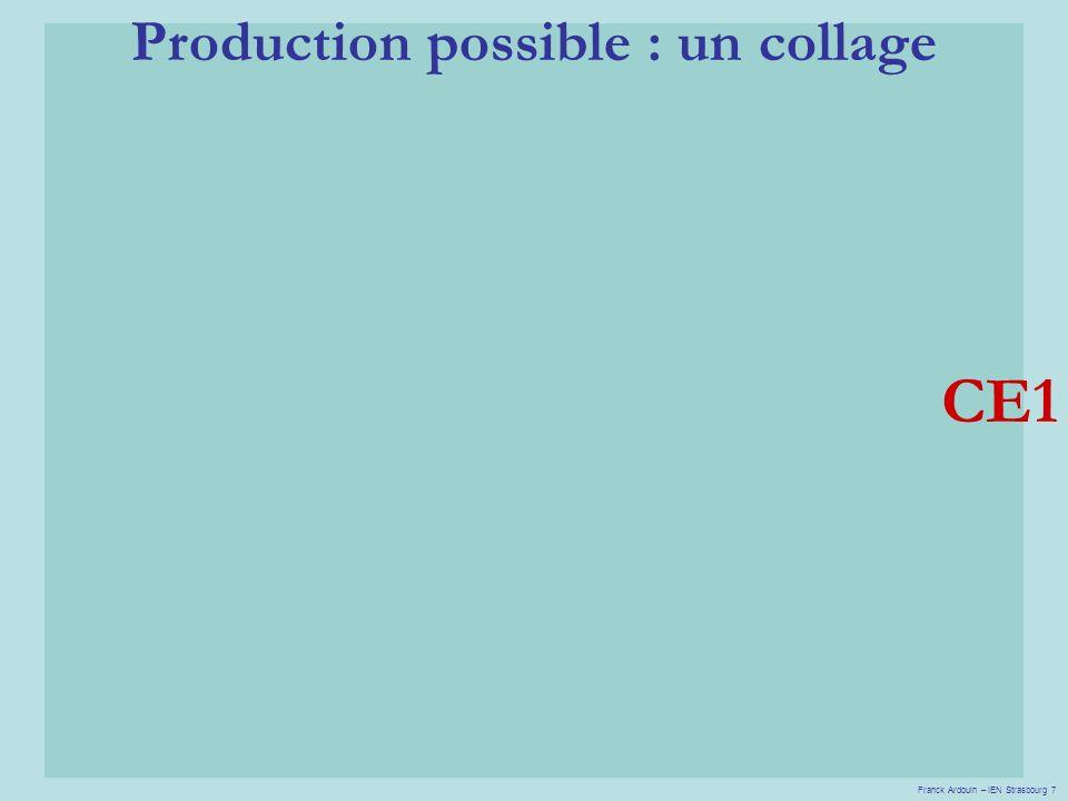 Production possible : un collage CE1 Franck Ardouin – IEN Strasbourg 7