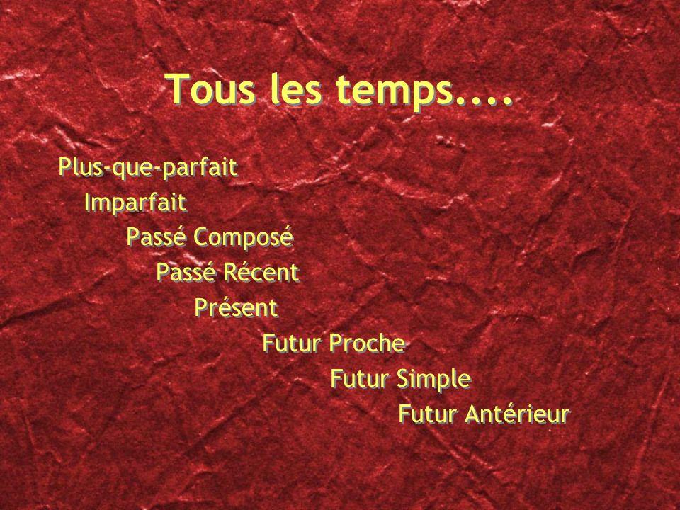 Les temps français une vue densemble
