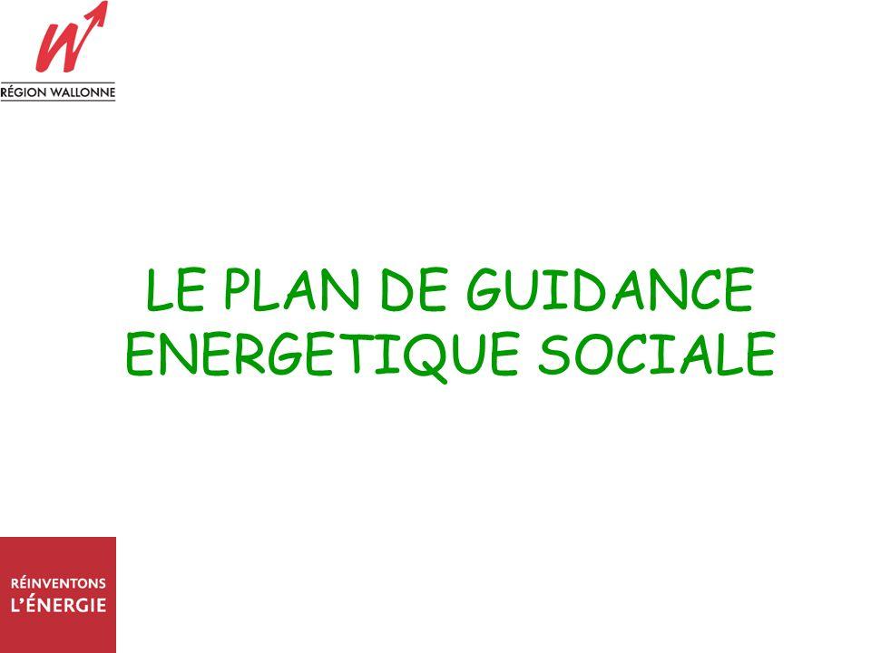 LE PLAN DE GUIDANCE ENERGETIQUE SOCIALE