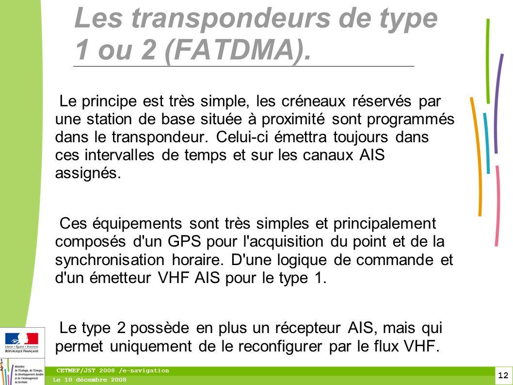 13 Le 10 décembre 2008 CETMEF/JST 2008 /e-navigation 13 Analyse du flux VHF et représentation du MSG 20