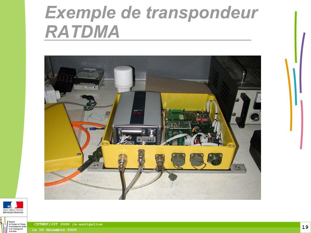 20 Le 10 décembre 2008 CETMEF/JST 2008 /e-navigation 20 Les services supplémentaires des transpondeurs AIS AtoN Les transpondeurs AtoN sont également prévus pour diffuser d autres messages que celui destiné à la navigation maritime.