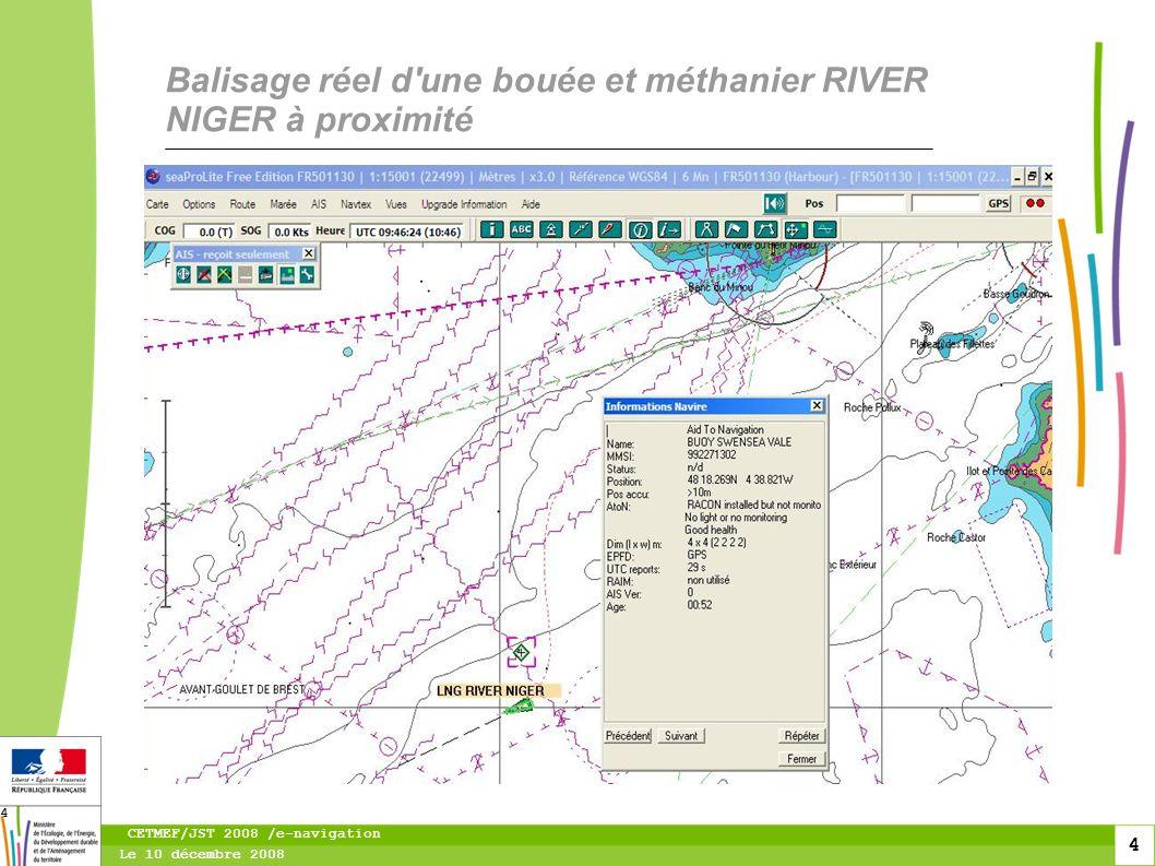 5 Le 10 décembre 2008 CETMEF/JST 2008 /e-navigation 5 Le LNG RIVER NIGER devant Swan sea vale