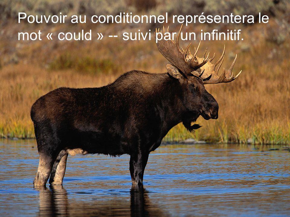 Pouvoir au conditionnel représentera le mot « could » -- suivi par un infinitif.