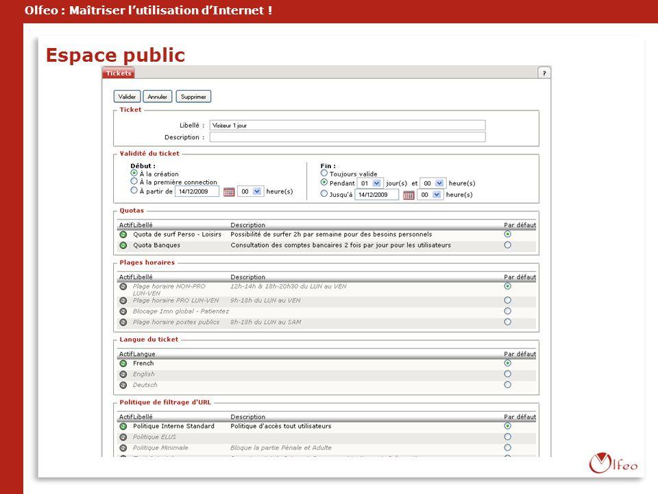 Olfeo : Maîtriser lutilisation dInternet ! Espace public
