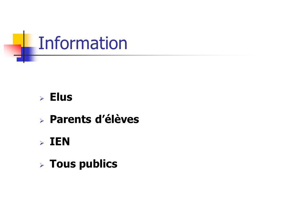 Information Elus Parents délèves IEN Tous publics