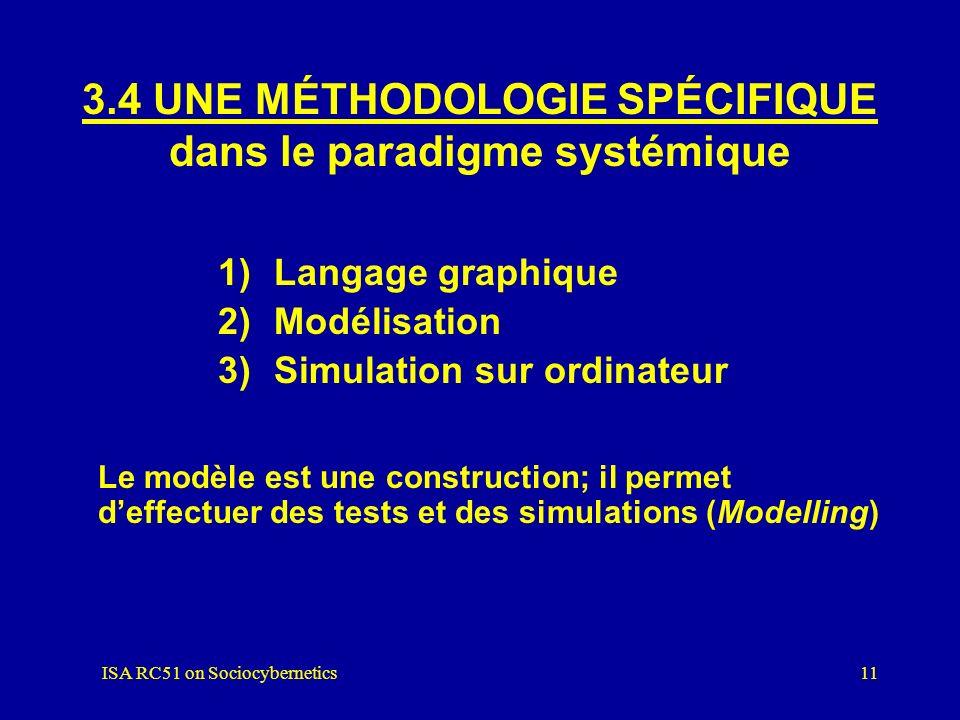ISA RC51 on Sociocybernetics10 3.3 DES CONCEPTS THÉORIQUES dans le paradigme systémique 1) La relation système/environnement 2) Une hiérarchie de syst