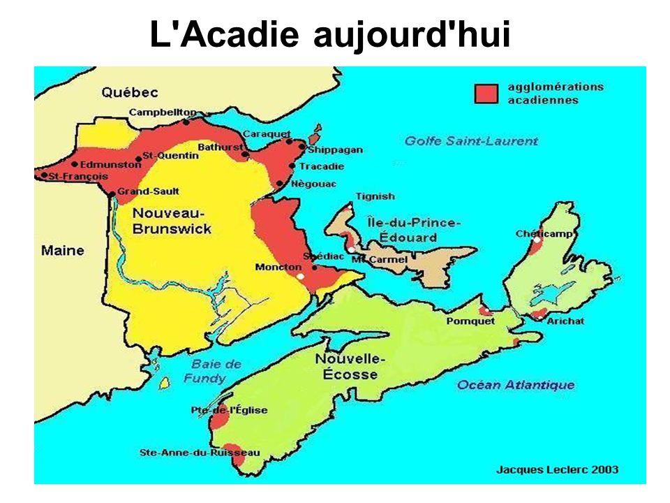 L'Acadie aujourd'hui