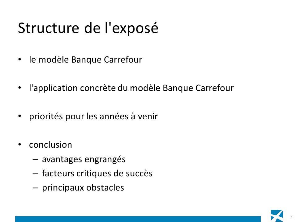 Structure de l'exposé le modèle Banque Carrefour l'application concrète du modèle Banque Carrefour priorités pour les années à venir conclusion – avan