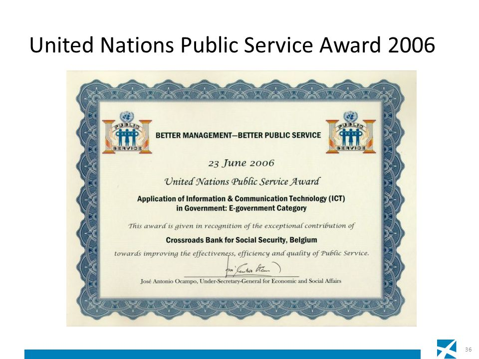 United Nations Public Service Award 2006 36