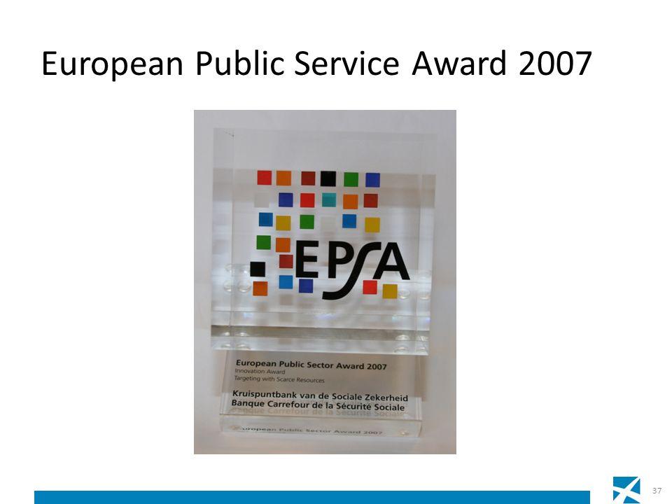 European Public Service Award 2007 37