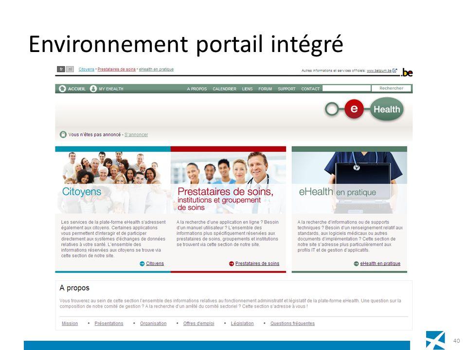 Environnement portail intégré 40