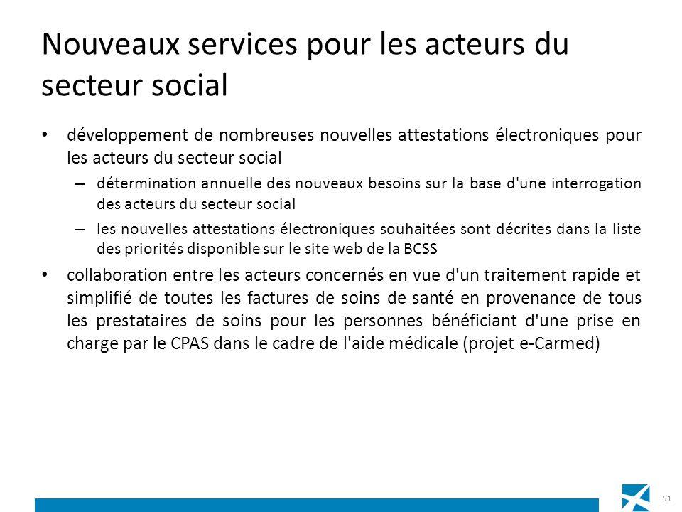 Nouveaux services pour les acteurs du secteur social développement de nombreuses nouvelles attestations électroniques pour les acteurs du secteur soci
